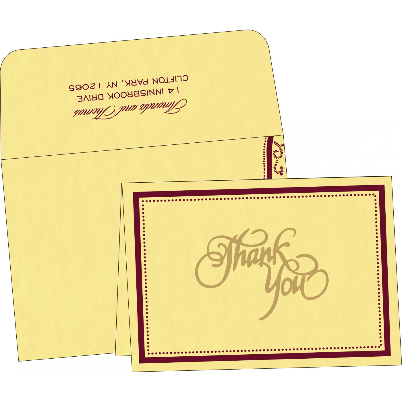 Thank You Cards - TYC-8219G