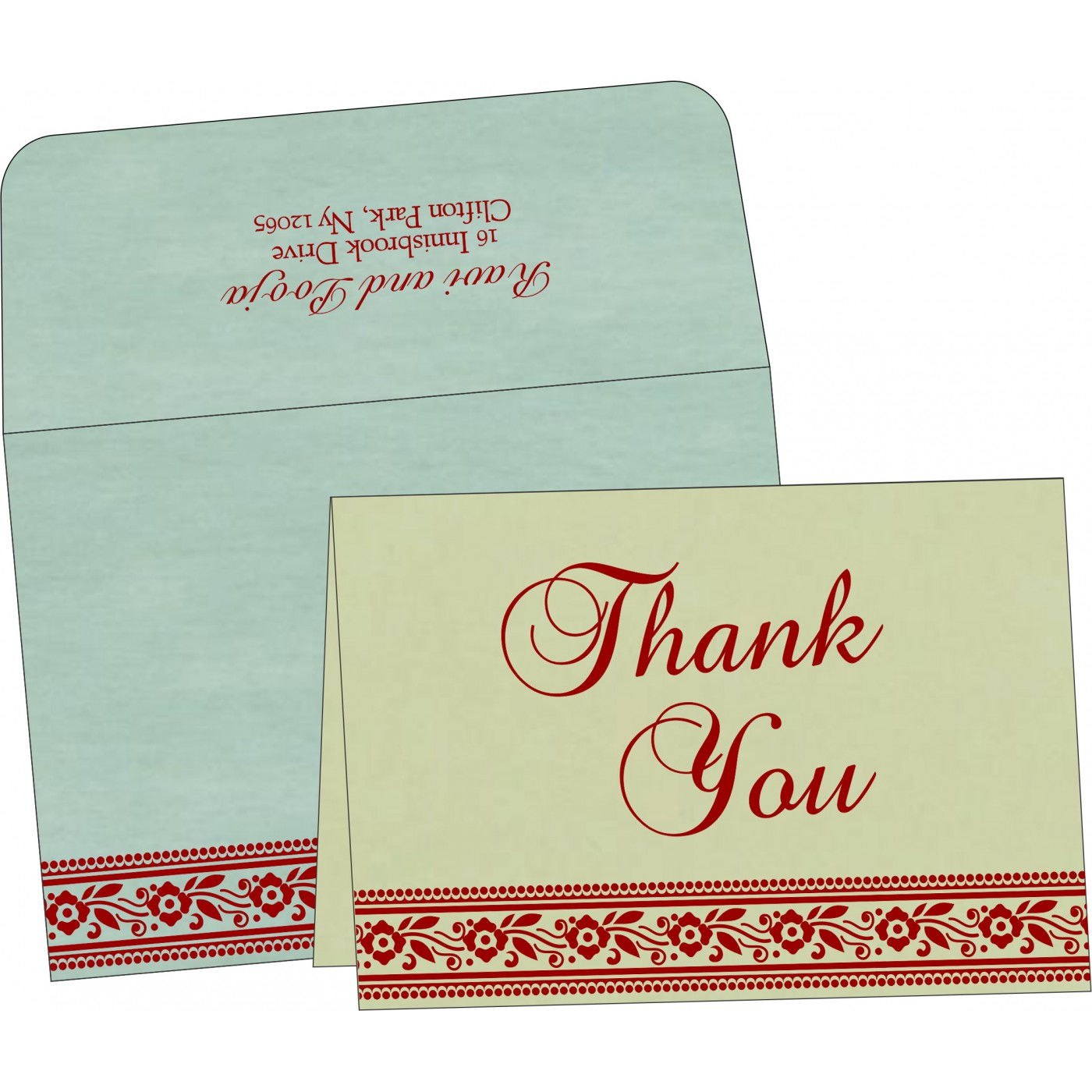 Thank You Cards - TYC-8220G