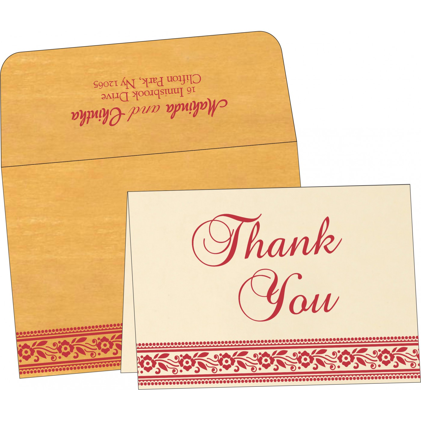 Thank You Cards - TYC-8220O