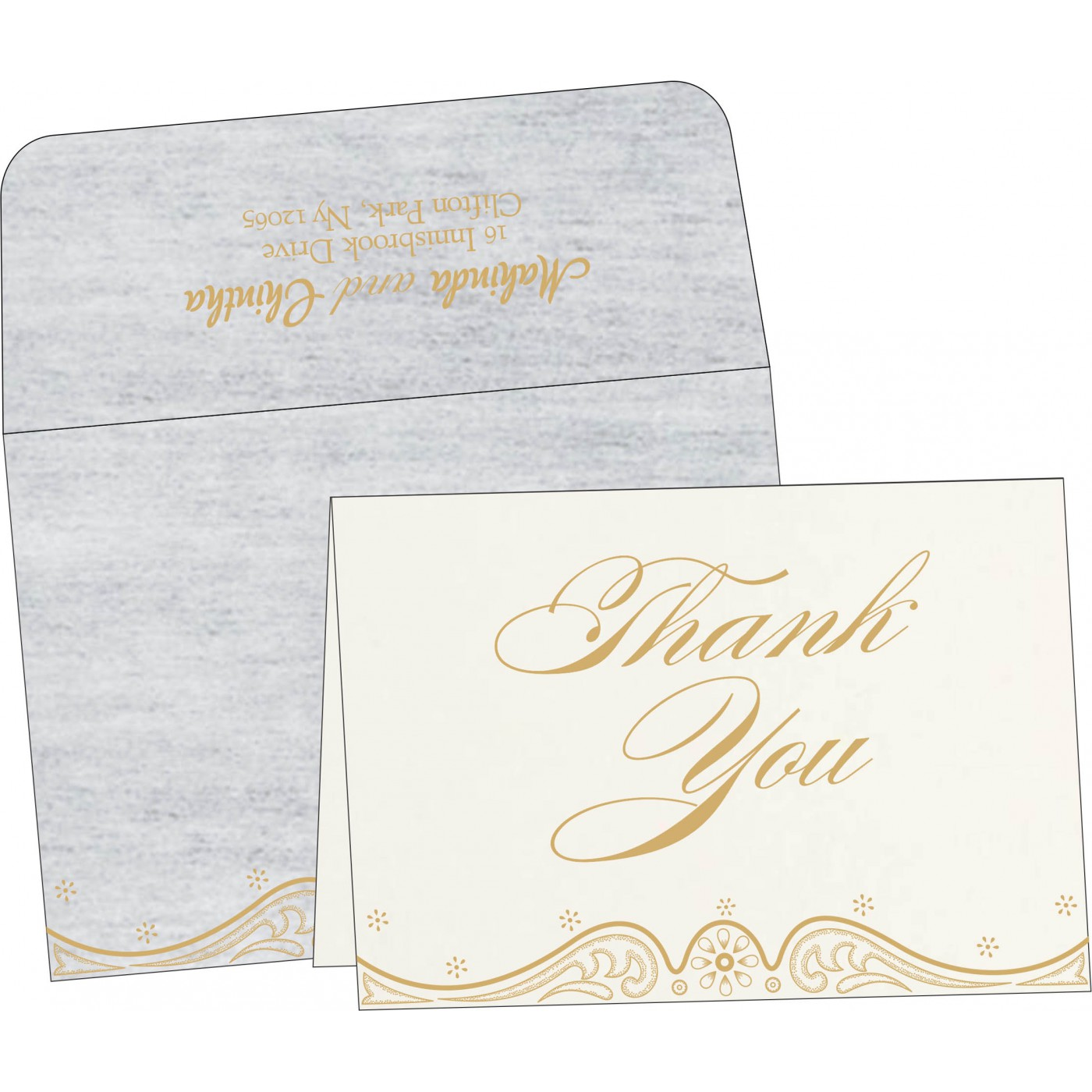Thank You Cards - TYC-8221G