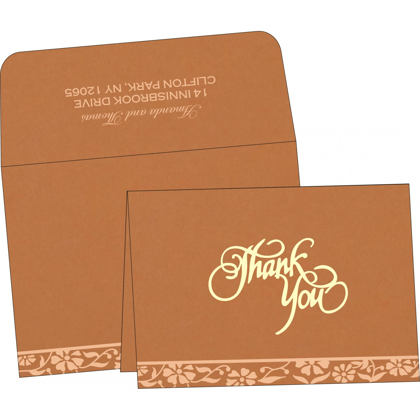 Thank You Cards - TYC-8222H