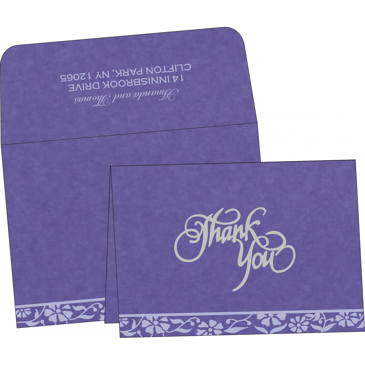 Thank You Cards - TYC-8222O