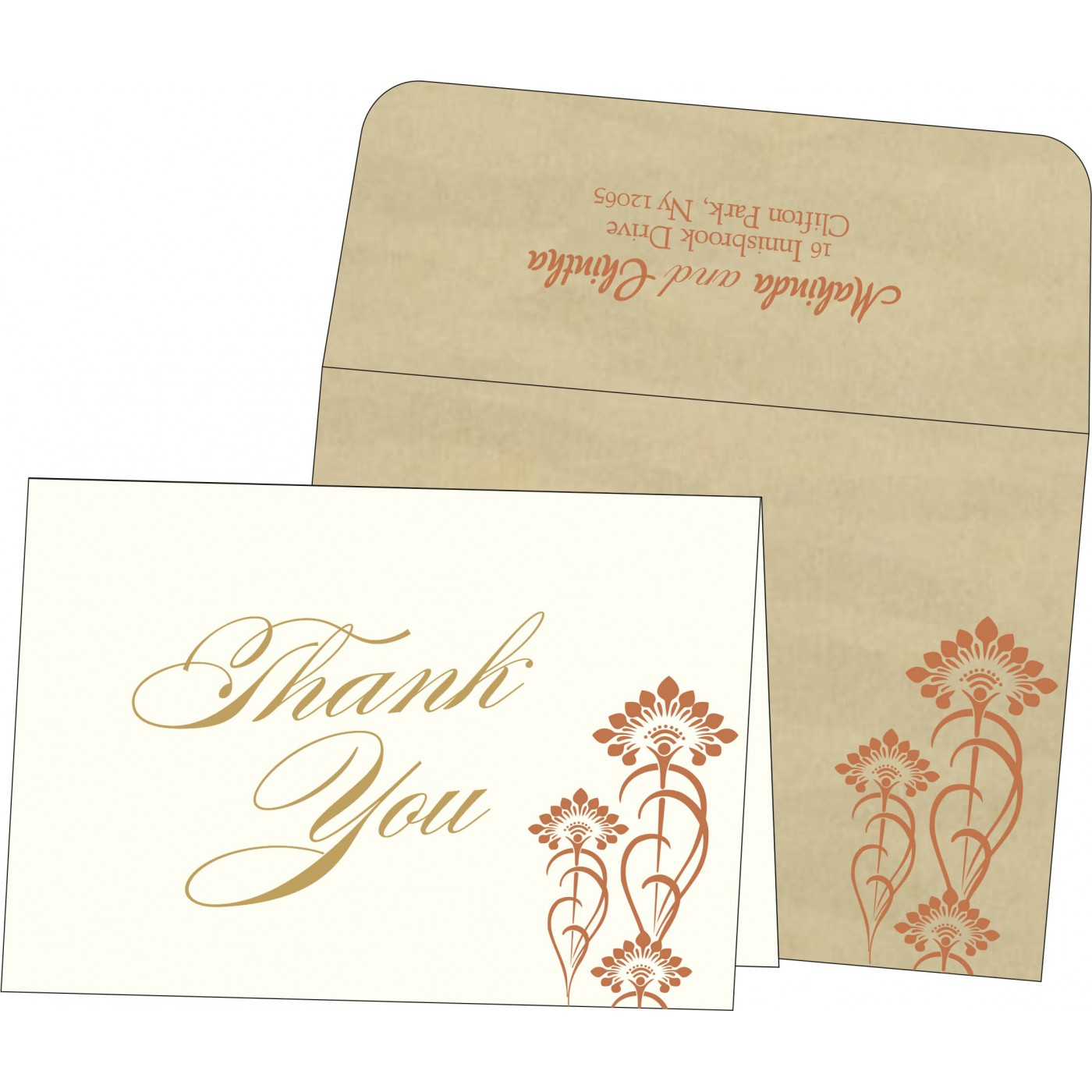 Thank You Cards - TYC-8239I