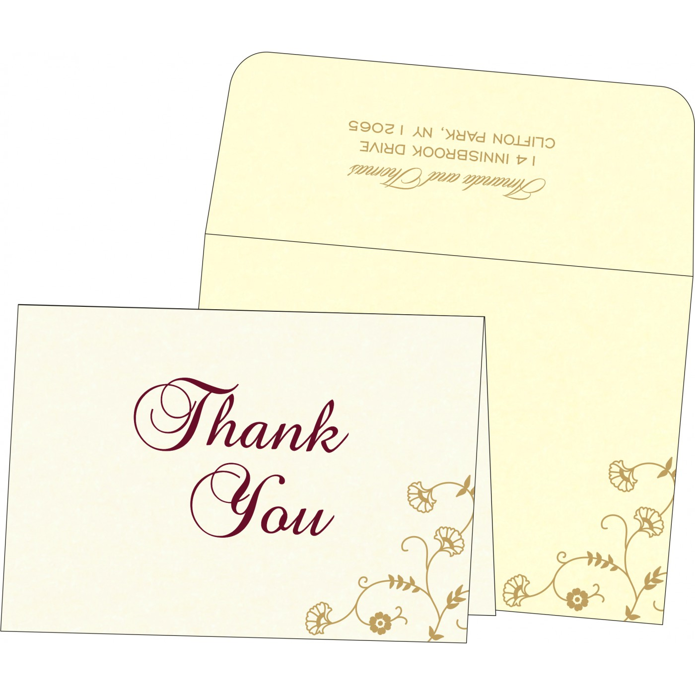 Thank You Cards - TYC-8248B